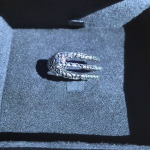 Super cool claw silver ring size medium